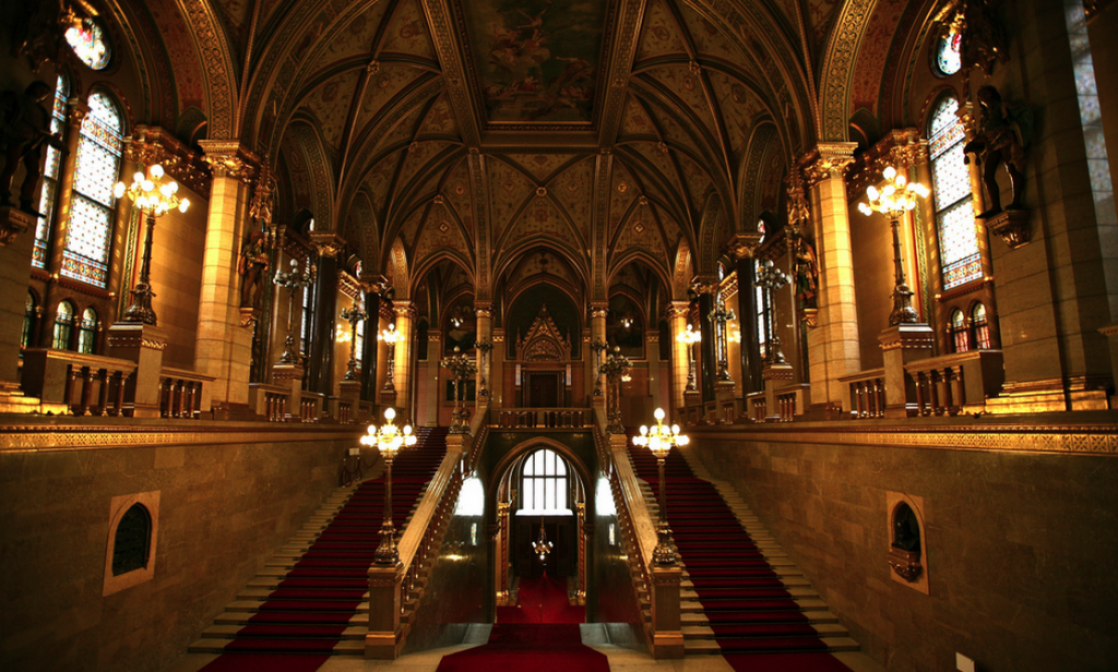 Hungarian Parliament Main Staircase (photo: Alex E. Proimos)
