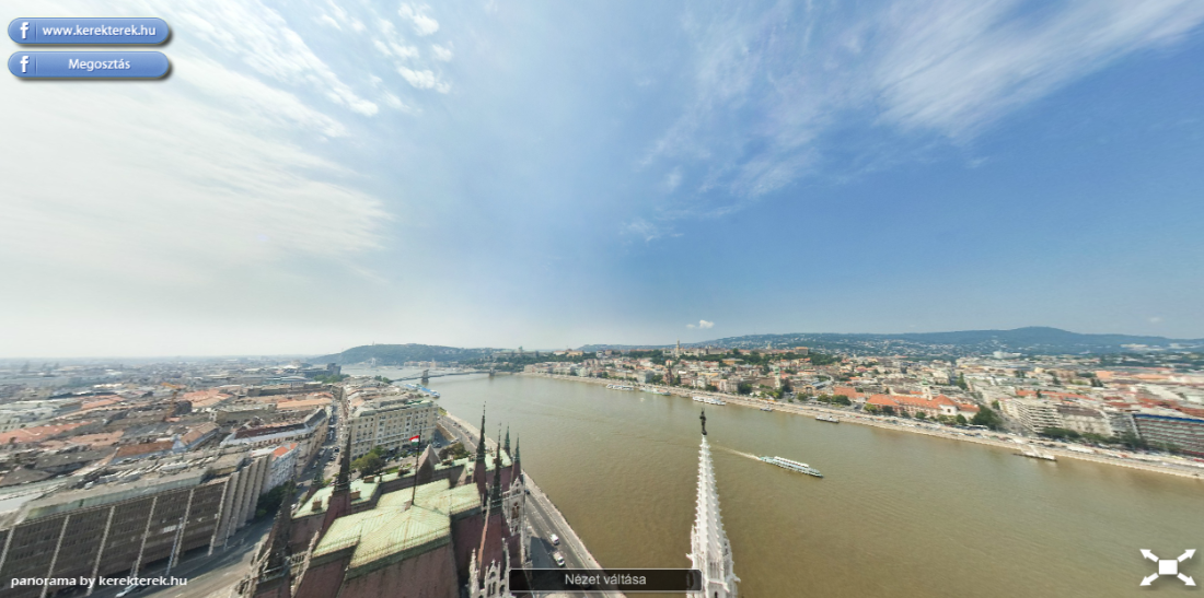 View from Budapest Parliament Dome